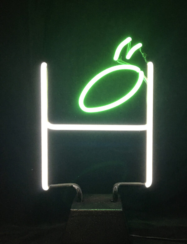 Neon Field Goal sculpture