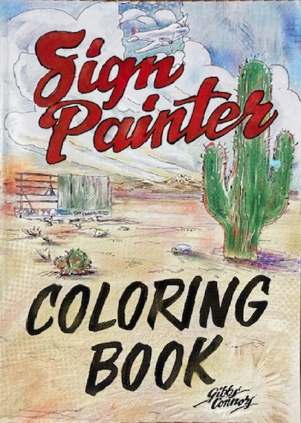 Sign Painter Coloring Book